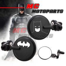 For Honda MSX 125 Grom 2013-2016 Black CNC Bar Ends Mirrors Bat Man Laser Hero