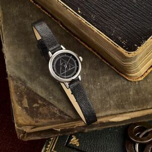 Harry Potter Deathly Hallows Symbol Logo Black Retro Wristwatch - Carat Shop