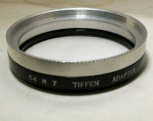 Tiffen 54mm Bis 54mm Step Up 7 VII Filter Halter Adapter Beibehaltung Ring
