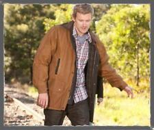 New Burke & Wills Darwin Oilskin Stockmans Coat Adult Jacket Brown & Sand Coat