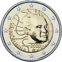 FINLAND 2020. 1OOTH ANNIVERSARY OF THE BIRTH OF VAINO LINNA. 2 EURO BU COIN.UNC!