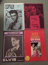 Lot 4 Fanzine Musique -  Elvis Presley  années 80 - M1