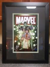 "LOU FERRIGNO SIGNED STAN LEE MORPHING INTO THE HULK 21""X 27"" FRAMED MATTED PRINT"