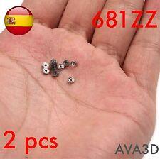 2 pcs 681zz 681 zz 1x3x1 mm 1*3*1 Mini micro rodamiento bearing DIY roller