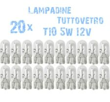 N° 20 Lampade T10 Zoccolo Vetro 5W 12V Cruscotto e Strumentazione Ricambi 2B1A 2