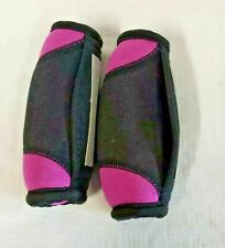 Hand Walking Weights Pair of 1 Lb Sport Soft Sand Bag Cloth Pink Black