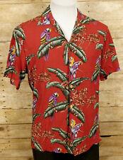 New listing Paradise Found Hawaiian Shirt Mens Small Short Sleeve Magnum PI Parrots Floral