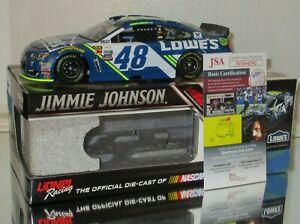 2017 JIMMIE JOHNSON #48 LOWE'S DUAL AUTOGRAPHED 1/24 car#588 W/JSA COA RARE WOW