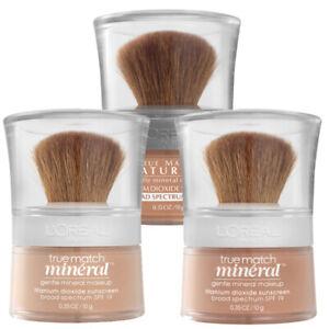 L'Oreal Paris True Match Mineral Loose Powder Foundation Gentle Makeup SPF 19