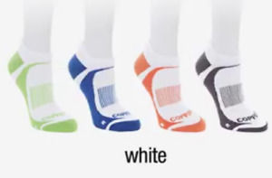 Copper Fit™ LIVELIMITLESS 4 PACK Unisex Sport Performance Socks, White, Size S/M