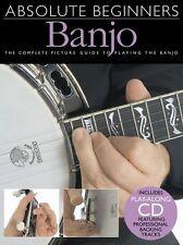 Absolute Beginner 5 String Banjo Book + Cd Set New