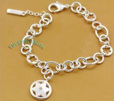 Taiwan TV Drama My Lucky Star Jimmy Lin Star Charms Bracelet Silver plated w Gem