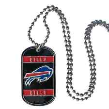 Buffalo Bills Team Logo Dog Tag Necklace Neck Tag with Chain Engraveable