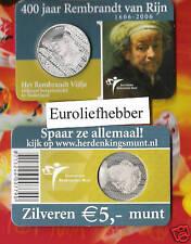 NEDERLAND     Het Rembrandt Vijfje    400 jaar Rembrandt van Rijn   IN COINCARD