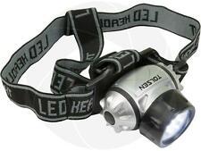 Strap On LED Hat Headlamp Adjustable Head Strap Work Head Light Flashlight Light