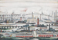 LS Lowry Framed Print – Industrial Landscape (Picture Painting English Artist)