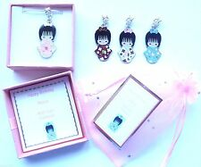 Japanese Kokeshi Geisha Girl Doll Charm Pendant Necklace Personalised Gift Box