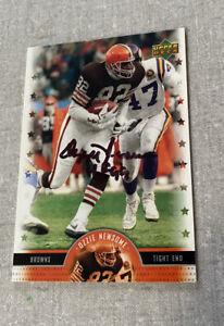 Browns /Ravens Hall of Fame OZZIE NEWSOME Autographed 05 UPPER DECK LEGENDS Card
