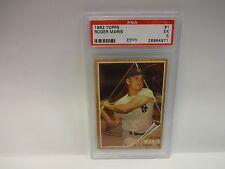 1962 Topps Roger Maris New York Yankees Card # 1 PSA 5 EX 26964971