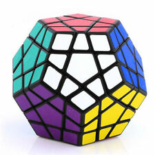 New Shengshou Megaminx Magic Cube Puzzle Twist High Speed 12 Color Toys Black