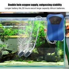 Rechargeable AC/DC Aquarium Fish Tank Oxygen Compressor Air Pump US Plug