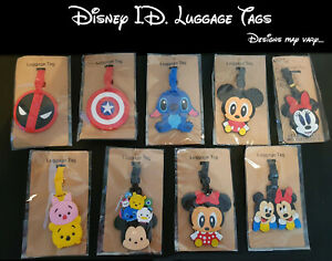 Disney, Mickey, Minnie & Marvel Travel Luggage ID Tags - UK Fast Post