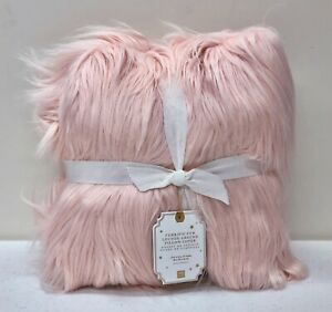 NEW Pottery Barn TEEN Faux Furrific Lounge Around Pillow Cover~Blush Pink