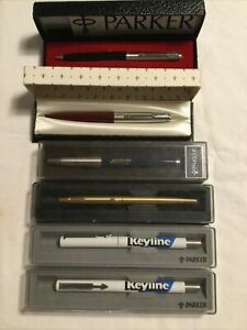 Job Lot Bundle Of 6x Vintage Parker Pens Pen & Pencil