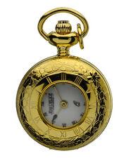 """Jean Pierre Quartz Pendant Watch,Gold Plated Half Hunter Case, 26"""" Chain, L593PQ"""