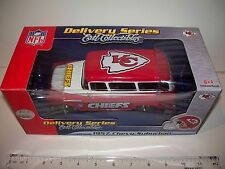 "Kansas City KC Chiefs Diecast 1:25 1957 Chevy Chevrolet Suburban 7"" Ertl 2005"