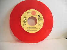Tomita, Arabesque No 1/Snowflakes Are Dancing RCA JB 10083, 1974 Promo RED vinyl