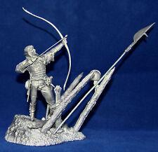 Zinnfigur Englischer Bogenschütze Die Schlacht von Azincourt 75mm Bausatz / Kit
