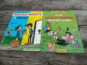 MODESTE Et POMPON : Lot de 4 Tomes , Franquin et Bim 1 en EO