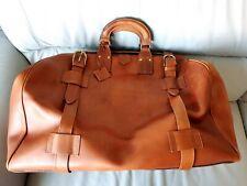 Baronessa Franchetti Gladstone Bag Genuine  Leather Tan Holdall Vintage Rare Bag