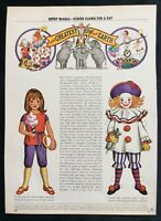 Betsy McCall Mag. Paper Doll, The Greatest Show On Earth, April 1971