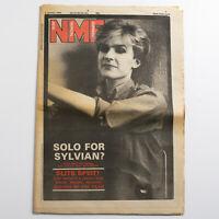 NME magazine 2 January 1982 David Sylvian of Japan cover Dollar Feelgoods