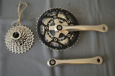 Shimano Deore XT crankset 42/32/22t 175 FC-M737 and 8 speed cassettes CS-M737