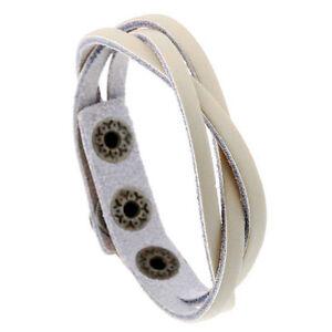 Fashion Mens Women Braided Leather Bracelet Wristband Bangle Surfer Cuff Jewelry