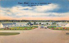 A60/ Knoxville Tennessee Tn Postcard Knox Motel Linen Roadside 1954