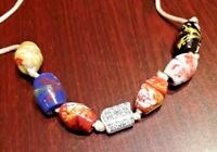 Nice Lot of 7 Marano Glass Beads Necklace