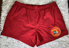 Men's Speedo Baywatch Lifeguard Red Swim Trunks Shorts Size XL