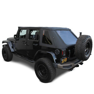 2007-18 Jeep Wrangler JK Unlimited 4 Door Ridge Runner Frameless Style Soft Top