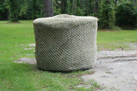 Slow Horse Hay Round Bale Net Feeder Save $$ Eliminates Waste Fits 4' x 4' Bales