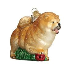 Chow Chow Fluffy Chinese Dog Breed Old World Christmas Glass Ornament Nwt 12497