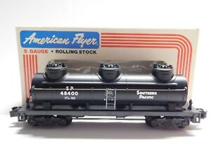 S Gauge - American Flyer - Southern Pacific 3-Dome Tank Car Train 6-48400