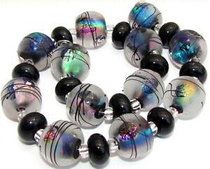 "Sistersbeads ""D-Aurora"" Handmade Lampwork Beads"