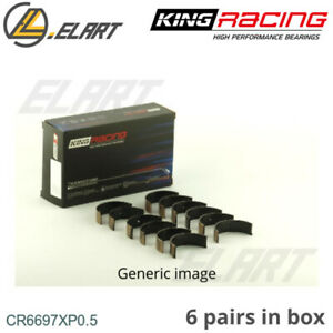 King Racing Big End Con Rod Bearings CR6697XP 0.5 For NISSAN 2.5-2.6 RB25-RB26