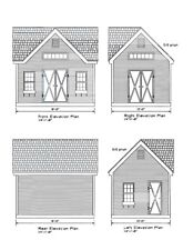 SHED PLANS 12'X16' GABLE ROOF DORMER BLUEPRINTS 16'X12' GABLE ROOF #17-1216GBLD