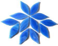 Dream Blue handcut Tiffany Petals for Mosaics, 12 pieces.