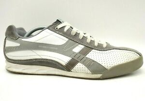 Skechers 92 Five Star Champion White Gray Leather Lace Up Sneakers Shoes Mens 11